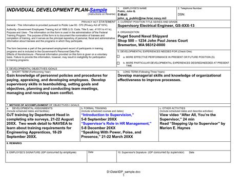 employee development plan template best photos of exles of development plans employee