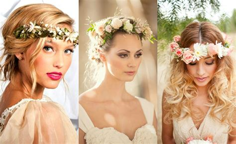 wedding hairstyles flower flower crown wedding hairstyles to this summer