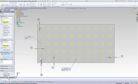 linear sketch pattern in solidworks equally spaced linear patterns