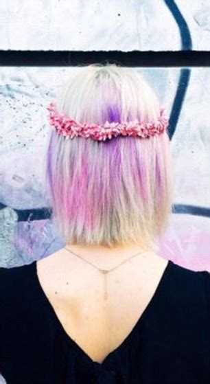 Strands Of Color new graffiti hair trend sees designs stencilled on tresses