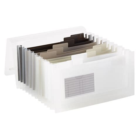 Container Store Gift Card Discount - grey 13 pocket accordion expanding receipt coupon organizer the container store