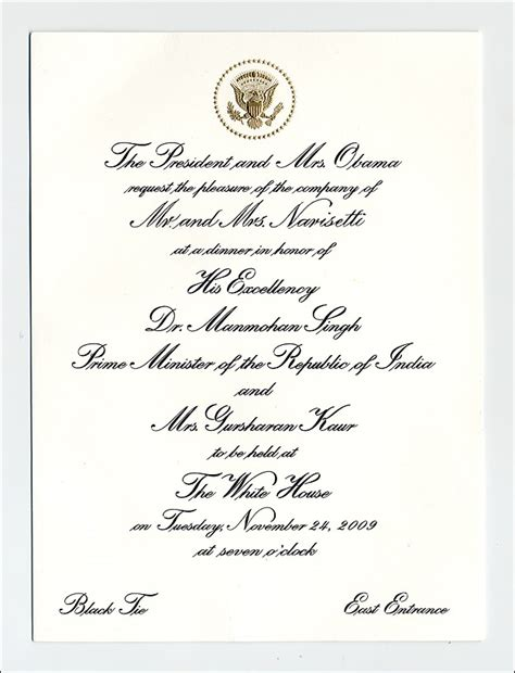 sending a wedding invitation to the white house reliable source what does a real white house state