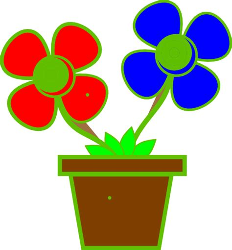 Clipart Flower Vase by Flowers In A Vase 2 Clip At Clker Vector Clip