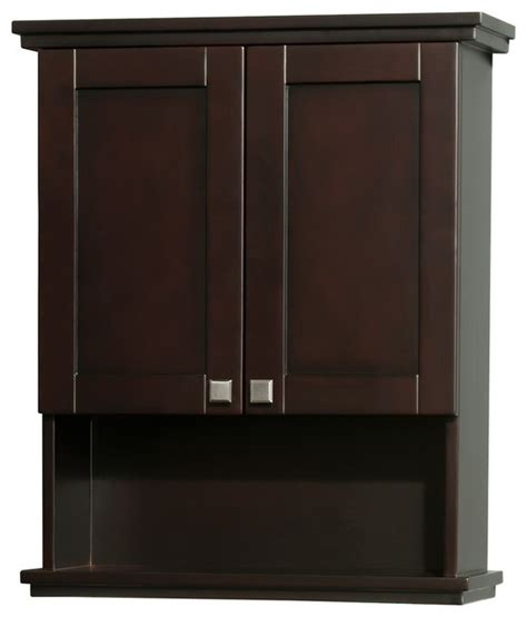 bathroom wall cabinet espresso acclaim solid oak bathroom wall mounted storage cabinet in