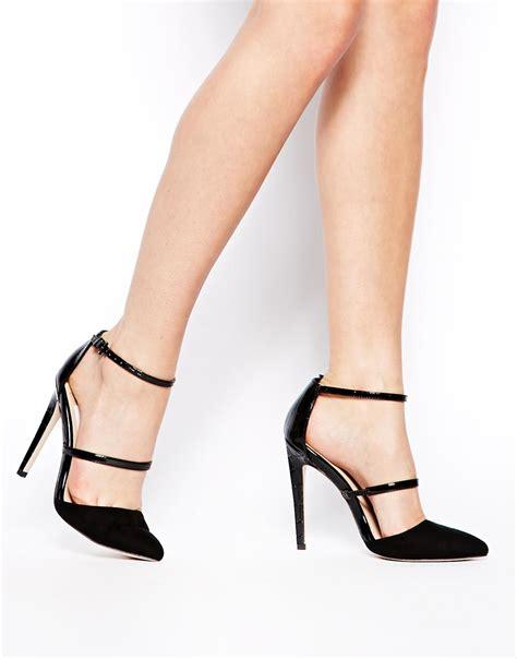 asos high heels asos poynter pointed high heels in black lyst