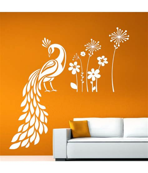 garden wall stickers hoopoe decor peacock sitting in garden wall stickers and