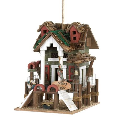 birdhouse outdoor yard tree pole nautical decor bird house