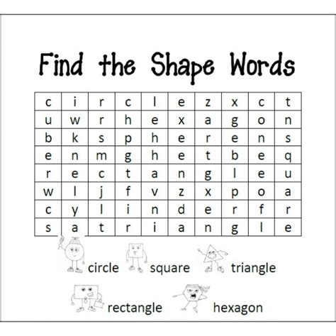 pattern and shape words 107 best colors and shapes images on pinterest school