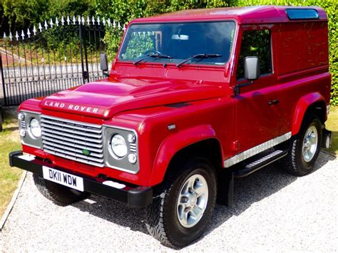 red land rover defender used rimini red land rover defender for sale essex