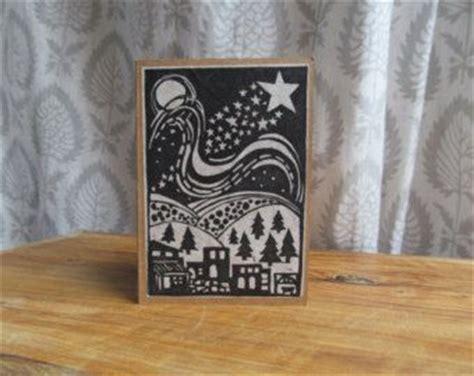 block print christmas cards