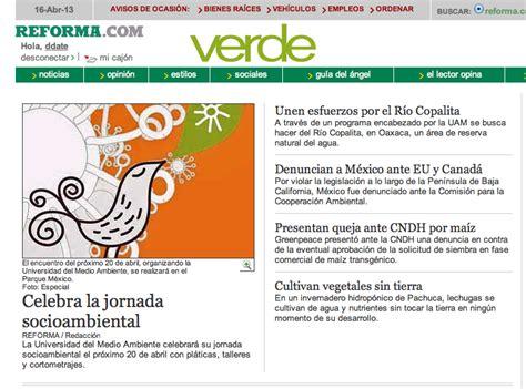 Green Mba Mexico by Reforma Verde Portada Universidad Medio Ambiente