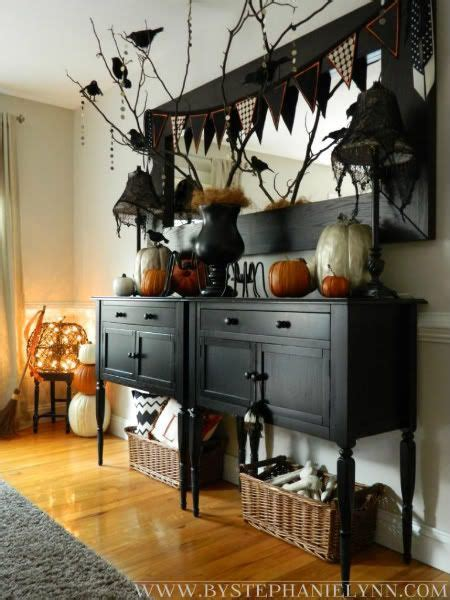 halloween dining room buffet console decor  faux