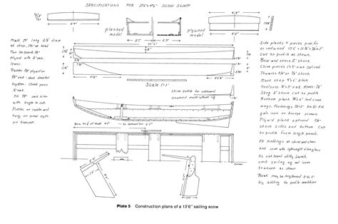scow hull plans flat bottomed scow boat plans plywood catboat boat plans