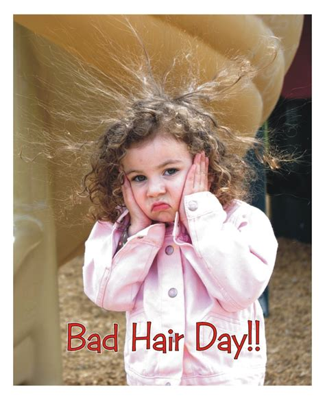 These Are Bad Hair Days by Positive Thinking Mon Amie