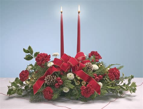 yuletide cheer centerpiece christmas flower delivery