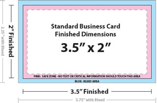standard business card size template business card size cyberuse