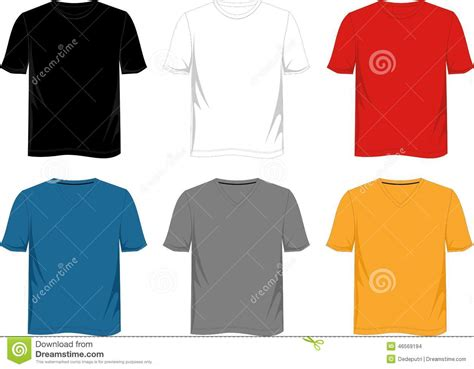 template t shirt white color t shirt template stock vector image of blank white