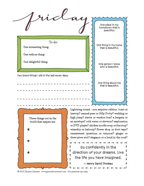 printable guided journal pages adventures in guided journaling 7 day printable guided