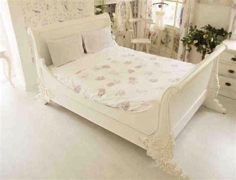 stunning shabby chic king size sleigh bed frame sleigh