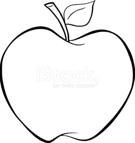 black and white cartoon apple stock vector freeimages.com