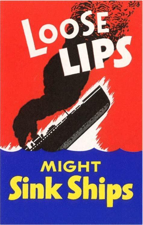 loose lips ships poster quot loose lips might ships quot ww2 naval propaganda poster