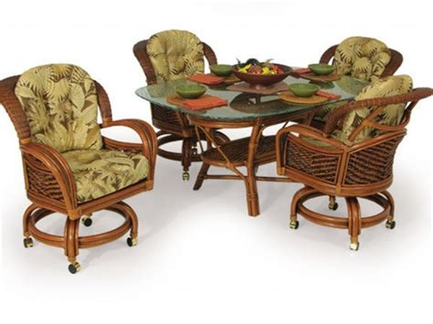 Dining Room Sets With Caster Chairs Gorgeous Dining Room Chairs With Casters Ideas Nudecorate