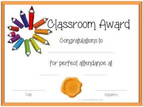 classroom certificates templates attendance award certificates