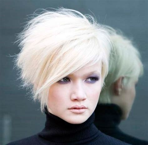 short white hair short stacked hairstyles for white hair cool trendy