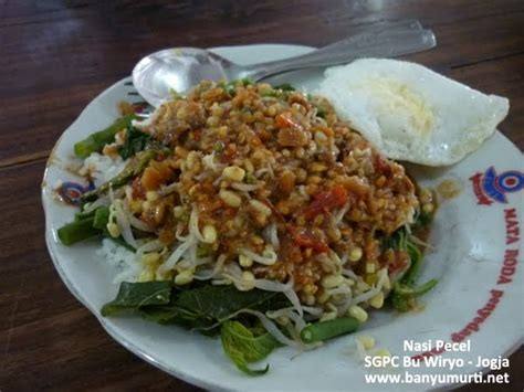 wisata kuliner indonesia kuliner  sego pecel jogja