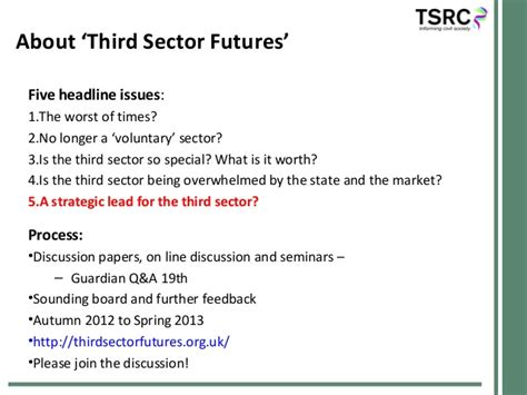 Mba Strategy Management For Third Sector by Third Sector Futures Dialogue 5 Seminar 14 2 13 A