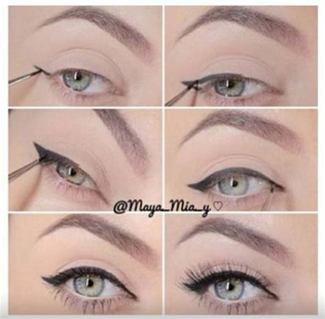 tutorial for top eyeliner perfect winged eyeliner make me up pinterest winged