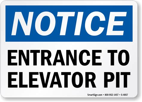pit signs elevator pit signs elevator shaft signs