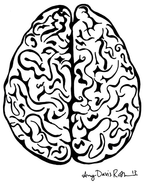 Brain Coloring Page Brain Top Coloring Pages by Brain Coloring Page