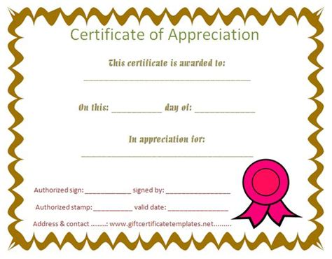 Certificate Of Appreciation For Students Planner Template Free Free Certificate Templates For Students