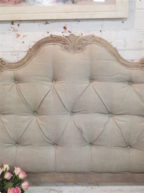 shabby chic tufted headboard painted cottage chic shabby tufted upholstered romantic