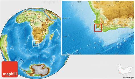 physical location map  mitchells plain