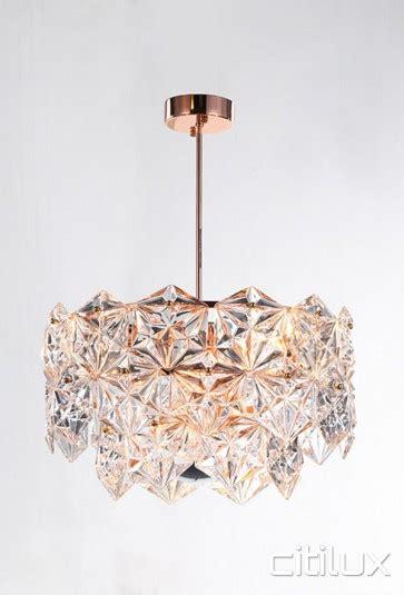 energy lights rose gold lighting australia mirka 6 lights pendant rose gold
