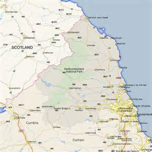Howick map street and road maps of northumberland england uk