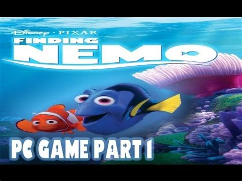 fish computer game cartoon finding nemo pc game part 1 youtube