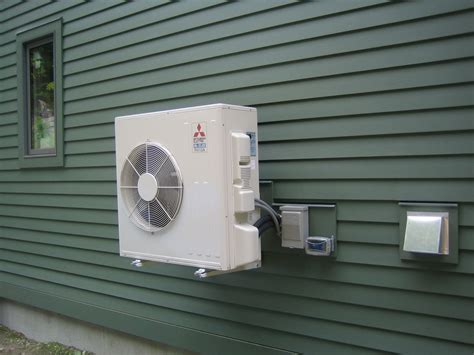 heating unit for house air source heat pump installed part 1 up hill house