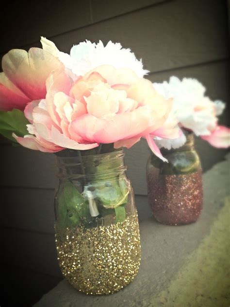 glitter jar centerpieces for baby shower decor