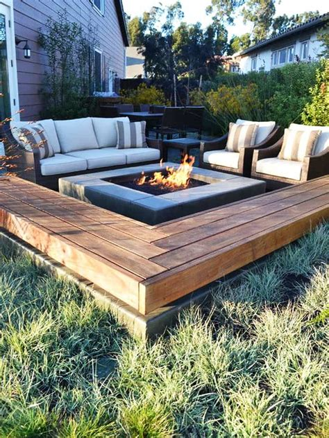 patio bench seating best outdoor fire pit ideas to have the ultimate backyard