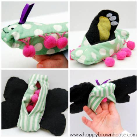 caterpillar butterfly sock puppet caterpillar butterfly finger puppets flip dolls pattern