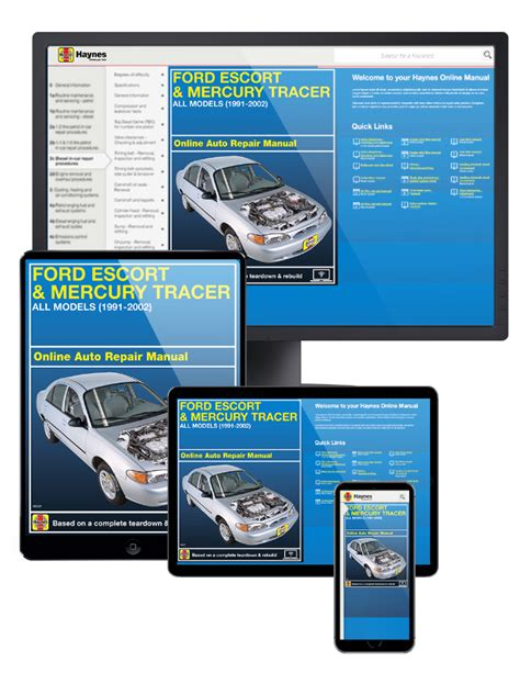 online car repair manuals free 1989 mercury tracer electronic valve timing ford escort mercury tracer online service manual 1991 2002
