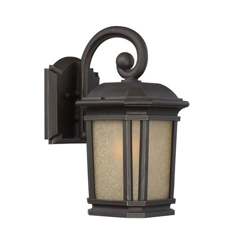 Outdoor Lighting Lowes Shop Quoizel Corrigan 13 25 In H Bronze Outdoor Wall Light At Lowes