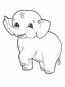 baby elephant coloring pages coloringsuite