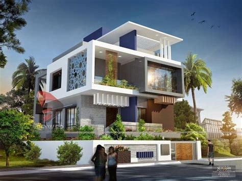 indian modern house exterior design ultra modern home designs house 3d interior exterior design rendering elevation
