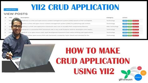 yii2 framework tutorial step by step how to make a crud application tutorial using php yii2