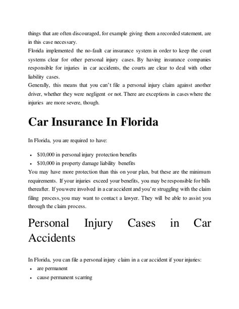 Car Insurance Personal Injury 2 by Who Is Liable For Injuries In A Car In Florida