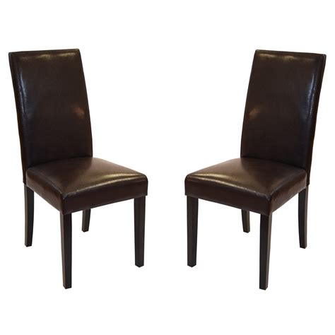 Bonded Leather Dining Room Chairs Bonded Leather Side Chair Set Of 2 Dining Chairs The